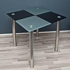 Amazon Design Esstisch Küchentisch Tisch Ecktisch Karo Schwarz
