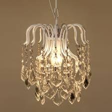 vintage pendant chandelier 1 light crystal ball white crystal pendant lighting