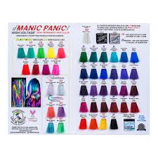 Manic Panic Blue Color Chart Hair Colour Swatch Chart