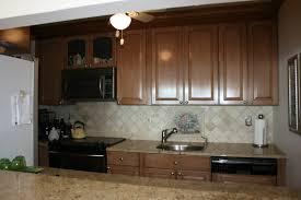 Simple Brown Painted Kitchen Cabinets Before And After Captivating