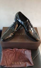 bnib authentic gucci mens patent leather shoes luxury shoes on carou