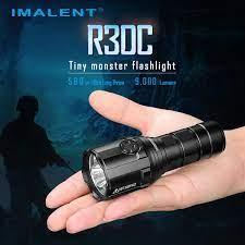 IMALENT R30C EDC LED el feneri 9000 lümen tip c USB taktik el feneri 21700  pil ile avcılık için, arama ve kurtarma|LED Fenerler