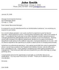 Cover Letter Sample For Entry Level Student Job Candidates Within