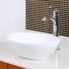Bathroom Sink Material Elite Ceramic Oval Vessel Bathroom Sink Reviews Wayfair