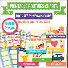 Printable visual daily routine preschool / visual schedule for toddlers. Printable Daily Routine Chart Toddler Visual Cards In Spanish