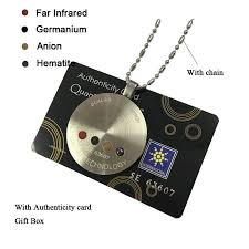 est quantum science scalar energy pendant negative ions necklace