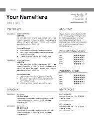 Classic Resume Template Word Gorgeous Montjuic Clean And Simple Resume Template