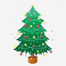 hand drawn cartoon christmas tree