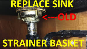 replace old leaky kitchen sink strainer basket quick and easy