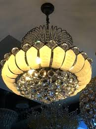 lotus flower chandelier of lotus s crystal pendant chandelier lotus flower chandelier pottery barn