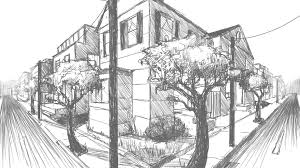perspective drawings of buildings. Two Point Perspective Drawing Buildings 2-Point Drawings Of T