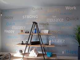 fitness room wall letters fonts arial crushed arial black montserrat