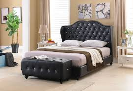 tufted headboard queen grey upholstered bed frame quilted bed frame ...