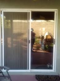 before old sliding glass door