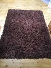 large chocolate brown rug