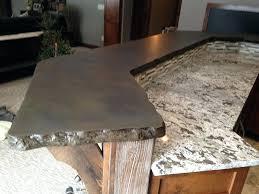 concrete countertops mn cost mankato duluth simulated stone rock edge light granite design ideas pretty