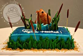 Hooked Fishing Grooms Cake Cakecentralcom
