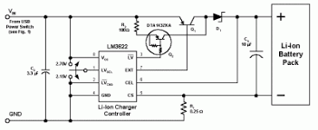 battery charger circuit page 7 power supply circuits next gr usb powered lithium ion battery charger