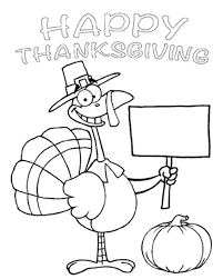 Turkey Thanksgiving Coloring Pages Children | Thanksgiving Coloring ...