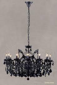 vivianne antique black crystal glass 12 arm large chandelier ceiling light for at