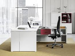contemporary style l shaped executive desk with shelves delta evo l shaped office
