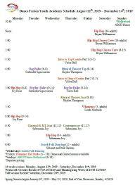 Sundays Only Calendar Schedule And Calendar Dance Fusion Youth Academy
