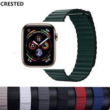 leather loop bracelet strap for apple watch 4 3 2 1 band 44mm 40mm iwatch band 42mm 38mm magnetic closure wrist watchband malaysia