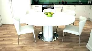 high gloss dining set white round dining table set modern white round dining table white extendable