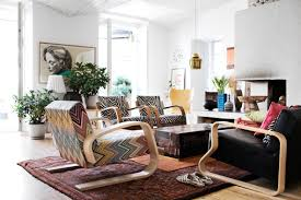 Home Interiors:Eclectic Bohemian Living Room Interior Design With Woven  Baskets Modern White Bohemian Style