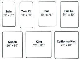 Twin Bed Mattress Dimensions Mattress Dimension Chart Twin