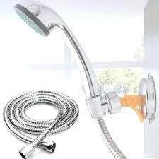 shower head pipe flexible shower hose stainless steel bathroom heater water head pipe chrome for shower