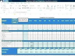 Sample Family Budget Plan Monthly Household Expenses Template