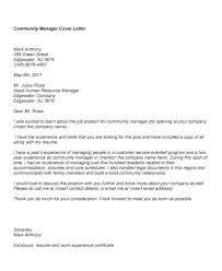 Cover Letter Community Services Community Service Cover Letters