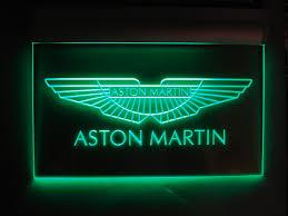 Garage Signs Décor Aston Martin Sign Cast Aluminium Plated Dealership Sign Motors