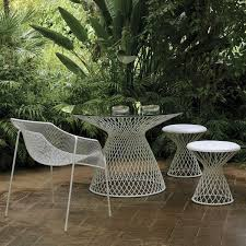 modern metal outdoor furniture photo. EMU Metal Mesh Glass Outdoor Dining Table - Contemporary Tables By Home Infatuation Modern Furniture Photo E