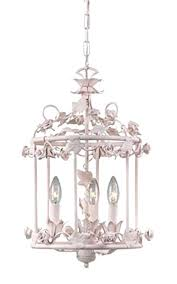 bird white chandelier best chandeliers images on shabby chic model antique wrought iron cage vintage stand