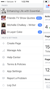 access multiple pages with the facebook page manager app