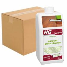 case of 6 x hg parquet wood floor and hardwood gloss cleaner wash and shine