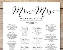 Simple Wedding Seating Chart Romantic Wedding Customizable