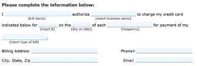 recurring payment authorization form template credit card throughout automatic authori