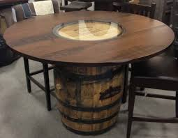 whiskey barrel table diy