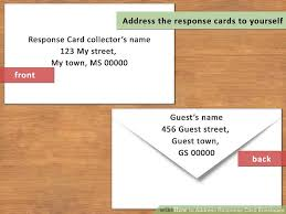 Response Card Envelope How To Address Response Card Envelopes With Pictures Wikihow