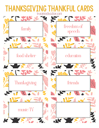 Printable Thanksgiving Cards Thanksgiving Thankfulness With Free Printable Cards