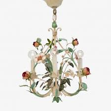 vintage small fl toile chandelier
