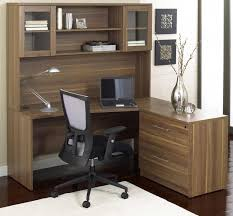 corner office desk with hutch. contemporary wooden corner office desk with hutch feat ergonomic black computer chair and anglepoise o
