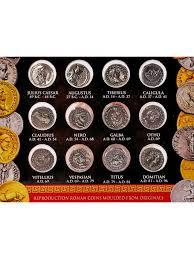 Twelve Caesars Coin Pack Of Twelve Caesars Denarii Replica