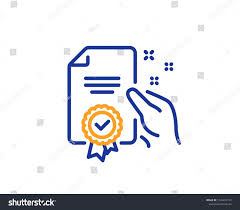 Certificate Outline Certificate Line Icon High Quality Or Guarantee Sign