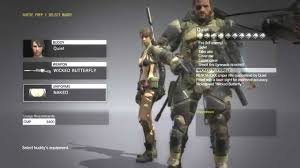 Metal Gear Solid 5 Quiet Outfits
