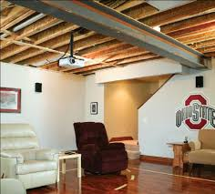 basement wood ceiling. wood suspended ceiling system basement