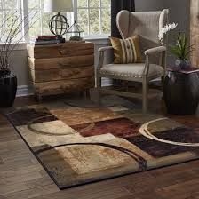 Blocks and Rings Brown/ Black Area Rug (10' x 13') - Free Shipping Today -  Overstock.com - 13933893